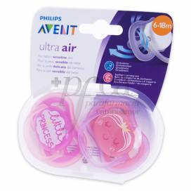 SILICONE PACIFIER AVENT ULTRA AIR 6-18 M 2U GIRL