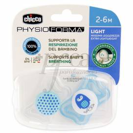 CHUPETA SILICONE CHICCO PHYSIO LIGHT 2-6M AZUL