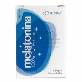 MELATONINA 100% PURA 1MG 90 COMPS PHARMASOR