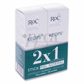 ROC KEOPS DEODORANT STICK 2X40ML PROMO