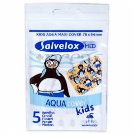 SALVELOX MED KIDS AQUA MAXI COVER 5 PLASTERS