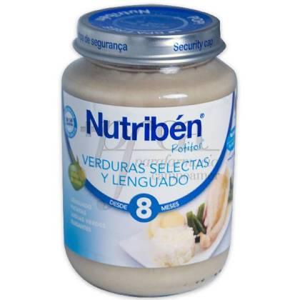 NUTRIBEN VERDURA SELECTA Y LENGUADO POTITO 200G
