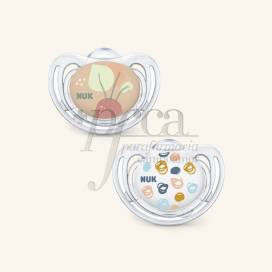 NUK FREESTYLE SILICONE ANATOMICAL PACIFIER 18-36M 2 UNITS