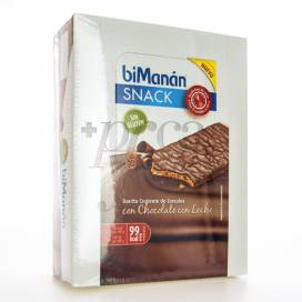 BIMANAN SNACK CHOCOLATE COM LEITE 20 BARRINHAS