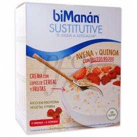 BIMANAN SUSTITUTIVE OATS QUINOA AND RED BERRIES CREAM 5 SACHETS