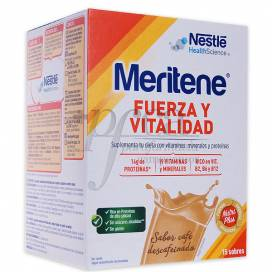 MERITENE 15 DECAF COFFEE MILKSHAKE SACHETS