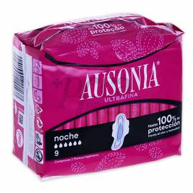 AUSONIA NIGHT WINGS 8 SANITARY TOWELS