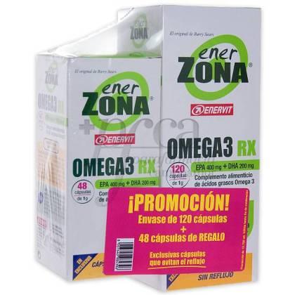 ENERZONA OMEGA 3 RX 120+48 KAPSELN PROMO