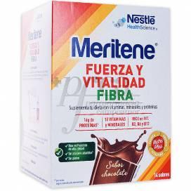 MERITENE FIBRA 14 SOBRES DE 35G CHOCOLATE