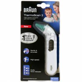 BRAUN OHT THERMOMETER THERMOSCAN 3 IRT3030