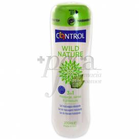 CONTROL GEL MASAJE WILD NATURE 200 ML