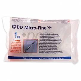 BD MICROFINE + INSULIN SPRITZE 1ML 0,33X12,7MM 10 EINHEITEN
