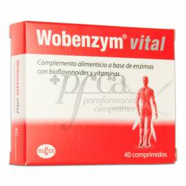 WOBENZYM VITAL 40 COMPS