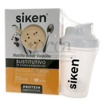 SIKEN PROTEIN SUSTITUTIVE VANILLE PUDDING 300 G + SHAKER PROMO