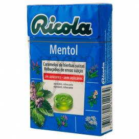 RICOLA CAIXA MENTOL SEM AÇÚCAR 50 GRAMOS