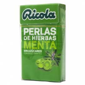 RICOLA PÉROLAS MENTA SEM AÇÚCAR 25 G