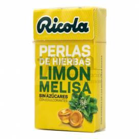 RICOLA PÉROLAS LIMÃO MELISSA SEM AÇÚCAR 25 G