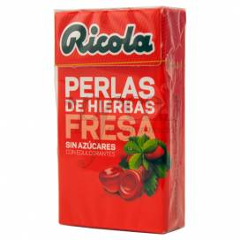 RICOLA PERLAS FRESA-MENTA SIN AZUCAR 25G