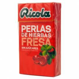 RICOLA PÉROLAS MORANGO-MENTA SEM AÇÚCAR 25 GRAMOS