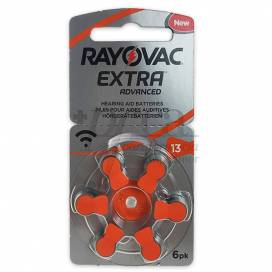 RAYOVAC EXTRA BATTERIES FOR HEARING AID 13 ORANGE 6 UNITS