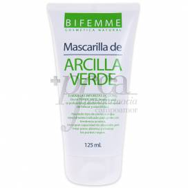 GREEN CLAY FACE MASK 125 ML BIFEMME