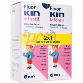 FLUORKIN INFANTIL COLUTÓRIO 2X500 ML PROMO