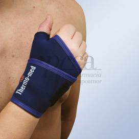 ORLIMAN THERMOMED NEOPRENE THUMB WRIST SUPPORT BANDAGE ONE SIZE 4607 BLUE