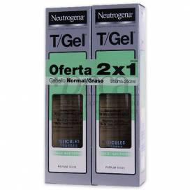 T-GEL CHAMPU CABELLO NORMAL/ GRASO 2X250ML PROMO