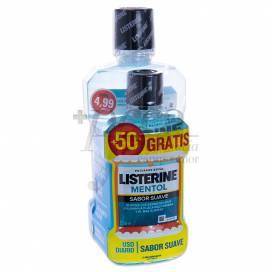 LISTERINE MENTOL SOFT FLAVOUR 500ML+250 ML PROMO