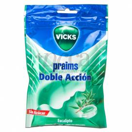VICKS PRAIMS DOBLE ACCION SIN AZUCAR BOLSA 72 G