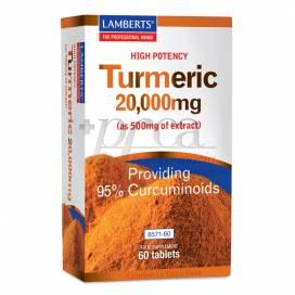 LAMBERTS TUMERIC 20.000MG 60 TABLETS