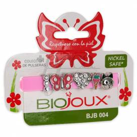 BIOJOUX PINK CHARMS BRACELET BUTTERLFY