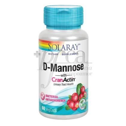 D-MANNOSE CRANANCTIN 60 CAPS SOLARAY