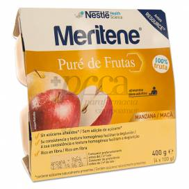 MERITENE PURE DE FRUTAS MANZANA 4X 100G