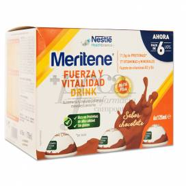 MERITENE FUERZA Y VITALIDAD DRINK CHOCOLATE 6 X 125 ML