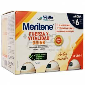 MERITENE FUERZA Y VITALIDAD DRINK VANILLE 6 EINHEITEN