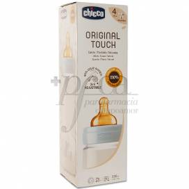 CHICCO ORIGINAL TOUCH BABYFLASCHE BLAU 4M+ 330 ML