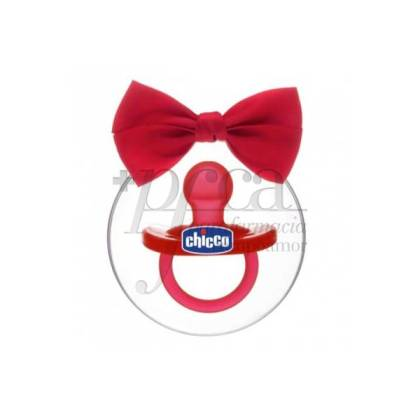 CHICCO SILICONE PACIFIER RED 6-16M PROMO