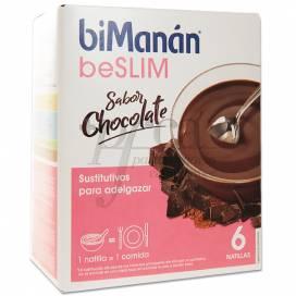 BIMANAN BESLIM PUDIN SABOR CHOCOLATE 6 SAQUETAS