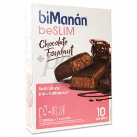 BIMANAN BESLIM BARS CHOCOLATE FONDANT 10 BARS