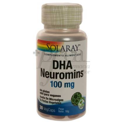 DHA NEUROMINS 100MG 30 PEARLS SOLARAY