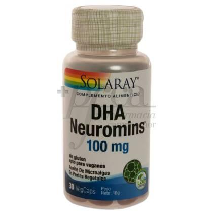 DHA NEUROMINS 100MG 30 PERLAS SOLARAY