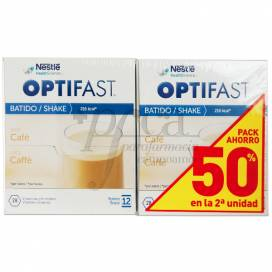 OPTIFAST BATIDO CAFE 12 SOBRES 2X660G PROMO