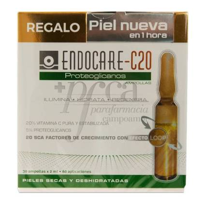 ENDOCARE C20 PROTEOGLICANOS 30 AMPOLAS + PRESENTE PROMO