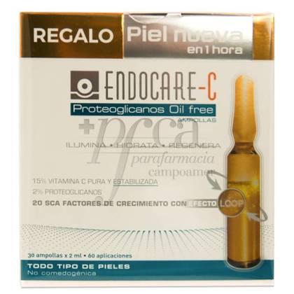 ENDOCARE C PROTEOGLICANOS OIL FREE 30 AMPULLEN + GESCHENK PROMO