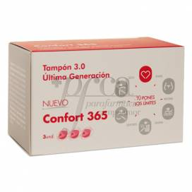 CONFORT TAMPONS 365 3 UNITS