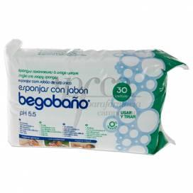 BEGOBAÑO ESPONJA COM SABÃO 30 UNIDADES