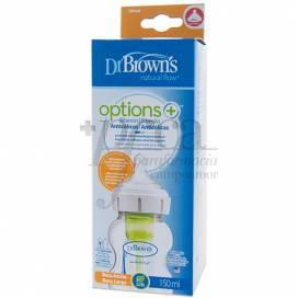 DR BROWNS OPTIONS BIBERON BOCA ANCHA 150ML 0M+