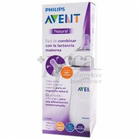 AVENT NATURAL FEEDING BOTTLE 6M+ 330 ML