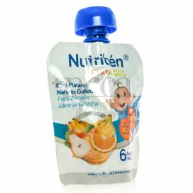 NUTRIBEN FRUTA GO! PEAR BANANA ORANGE AND COOKIES 90 G